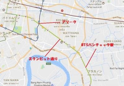 バンチャク駅地図