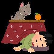 冬(ネコ&こたつ