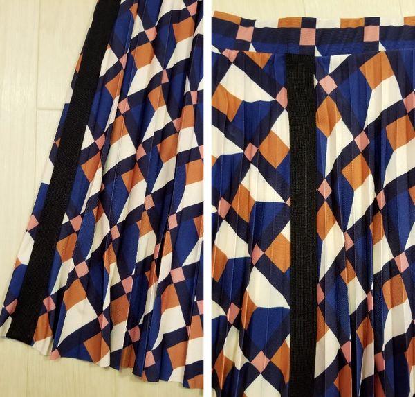 幾何柄スカート3