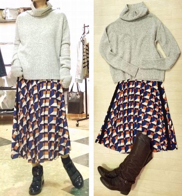幾何柄スカート4
