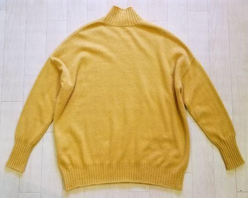 マスタードイエローハイネックセーター3