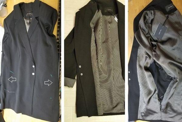 copジャケットポケット付け袖丈3
