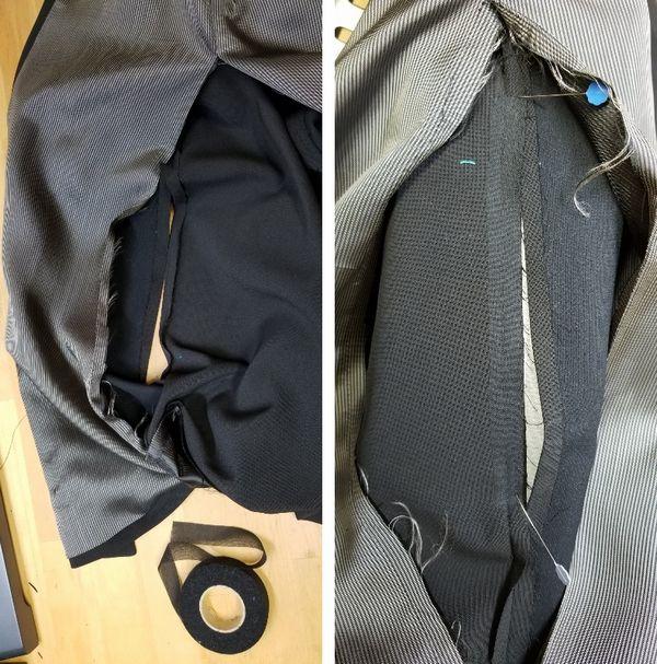copジャケットポケット付け袖丈4