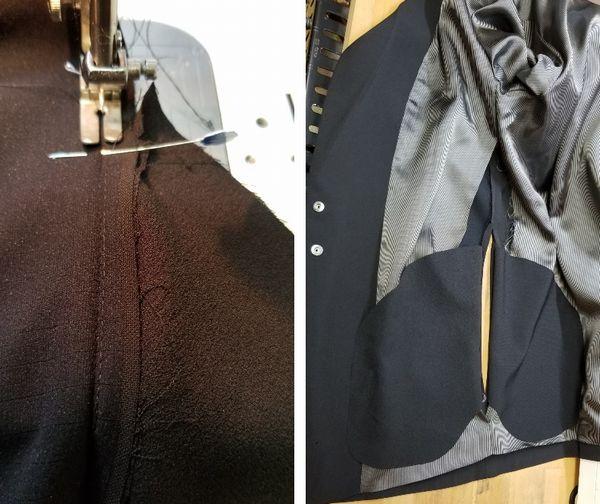 copジャケットポケット付け袖丈6
