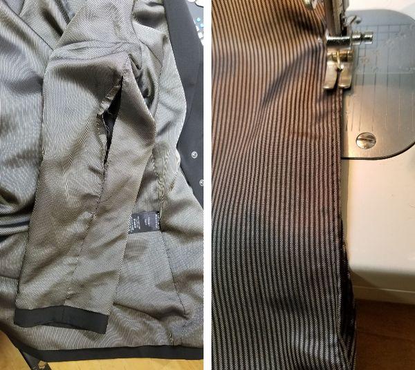 copジャケットポケット付け袖丈16