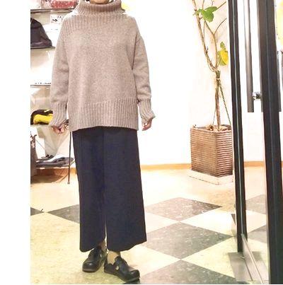 ローゲージニット袖丈1