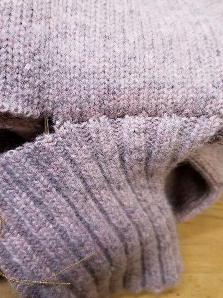 ローゲージニット袖丈14