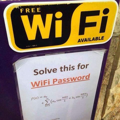 数学の問題を解いてwi-fi無料
