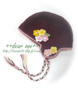 耳当て付きベビーニット帽161205_1