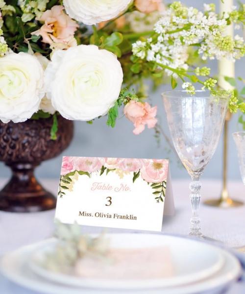 結婚式手作り席札
