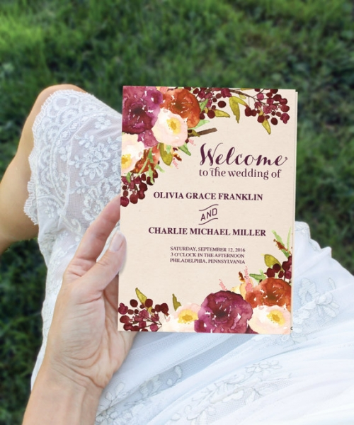 結婚式手作り席次表