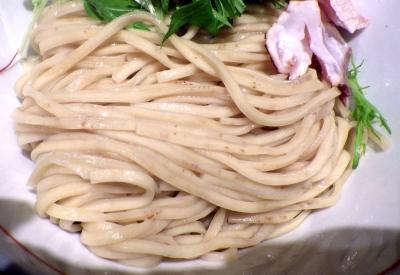 麺と心 7 鰤白湯つけ麺(麺のアップ)