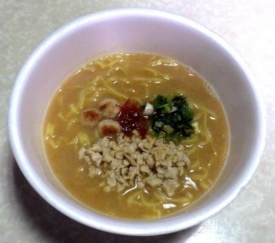 1/2発売 トリまみれの濃厚鶏そば(できあがり)