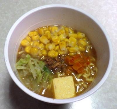 12/19発売 味噌バター味ラーメン(できあがり)
