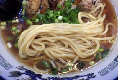 綿麺 フライデーナイト Part122 (17/1/27) 鶏醤油ら~めん(麺のアップ)