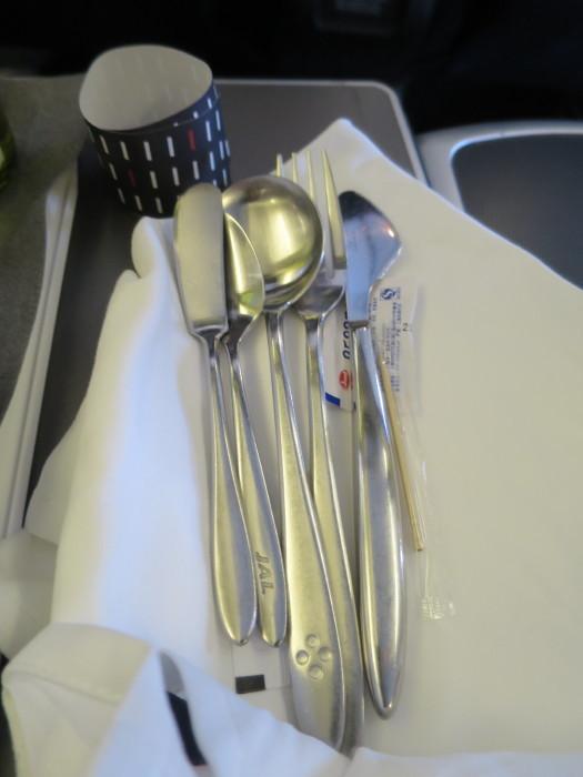 JAL ビジネスクラス 上海-関西 JL894 機内食