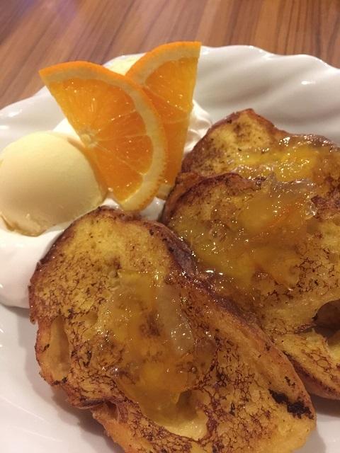 はいからホール 焼バル ふわふわオレンジフレンチトースト
