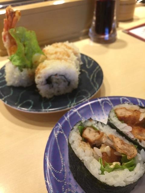 函館グルメ回転寿司 函太郎 鶴岡店 チキンマヨ巻き クランチロール