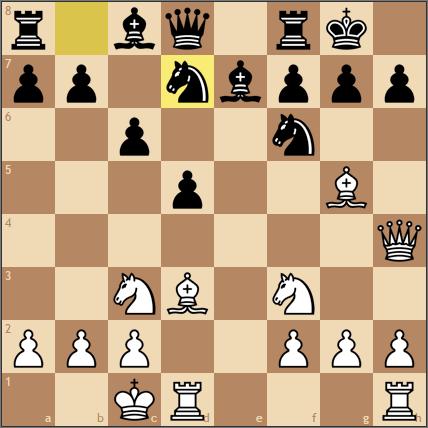 f6にナイトがいてもグリークギフトが成立する局面