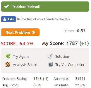 score64.2%で+1