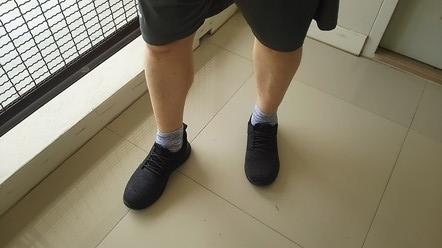 ミッキーの足か