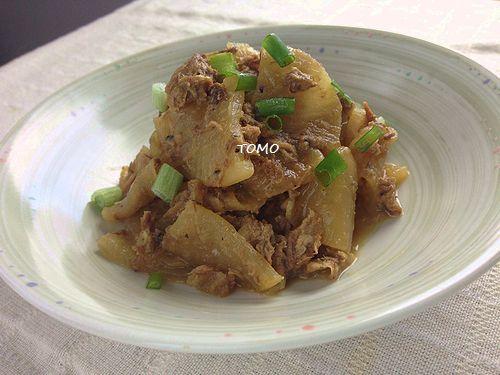 大根とサバ味噌煮缶の炒め煮