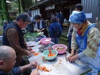 井栗谷で秋の収穫祭