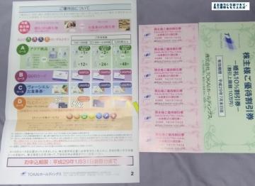 TOKAI HD 優待案内 201609