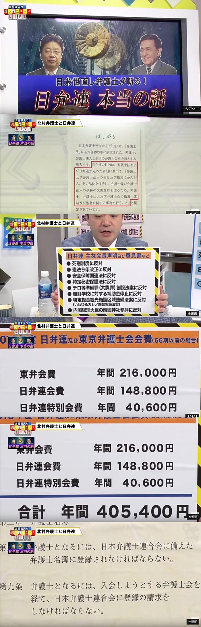 日弁連 DHC] 北村弁護士