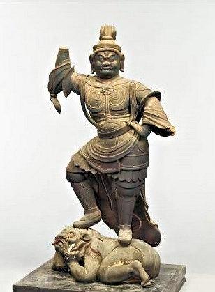 新発見の室生寺・二天像(9C)