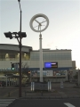JR川内駅 駅名標と風力発電?