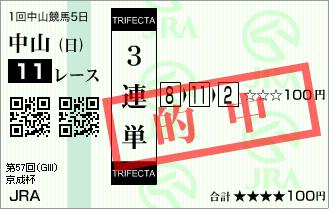 京成杯_的中3