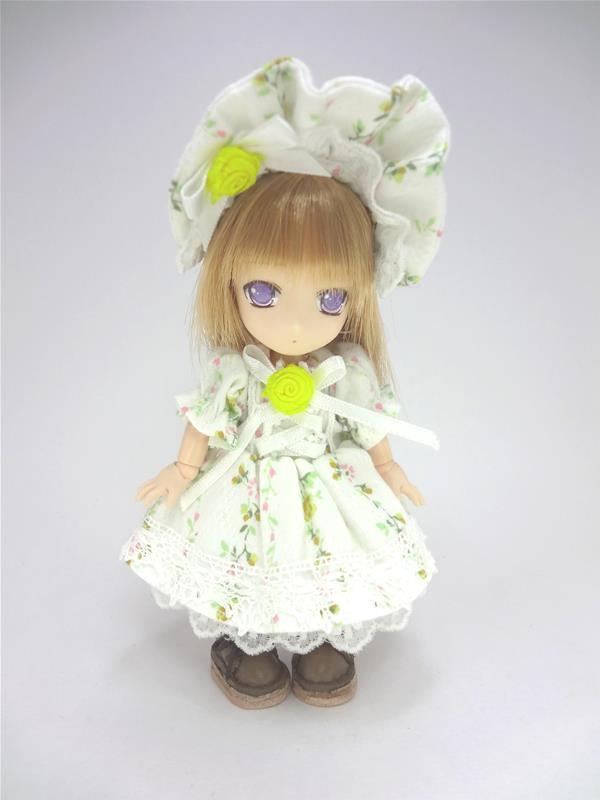 [黒月project] オビツ11 あみあげワンピース 花柄