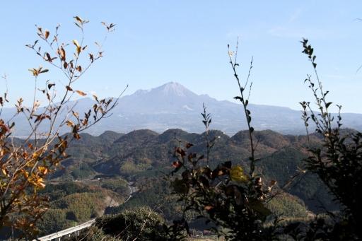 清水山から見た大山と安来道路
