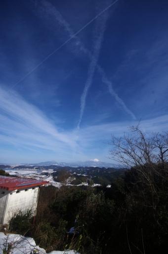 清水山から見た大山