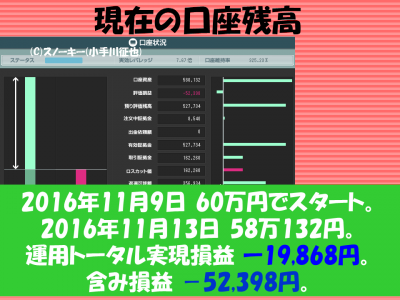 20161113【リアル】ループ・イフダン検証口座残高