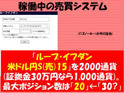 20161113【リアル】ループ・イフダン検証稼働中の売買システム