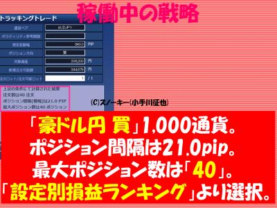 20161224トラッキングトレード検証豪ドル円ロング