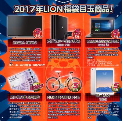 ヒロセ通商LION福袋2017年目玉商品