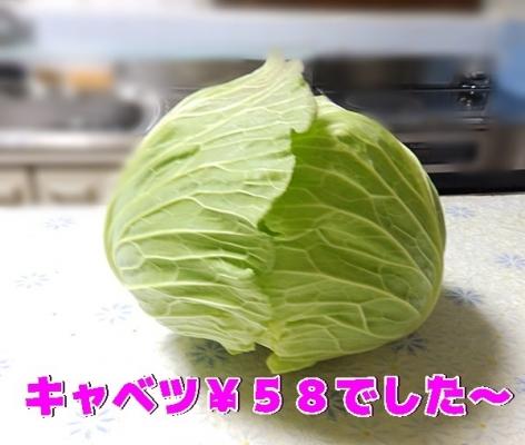 キャベツ58円
