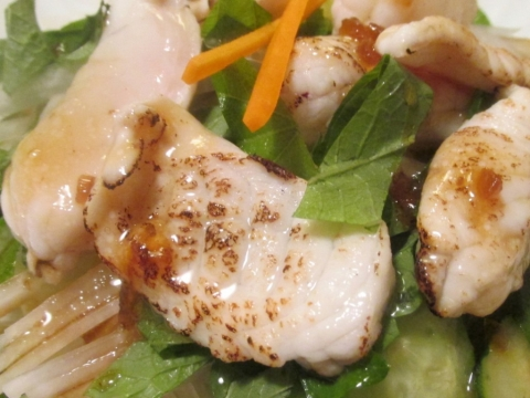 フグの炙りサラダアップ1