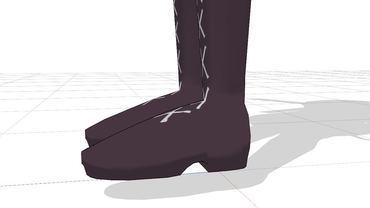 2017/01/13 MMD環いろはモデル製作中 靴底