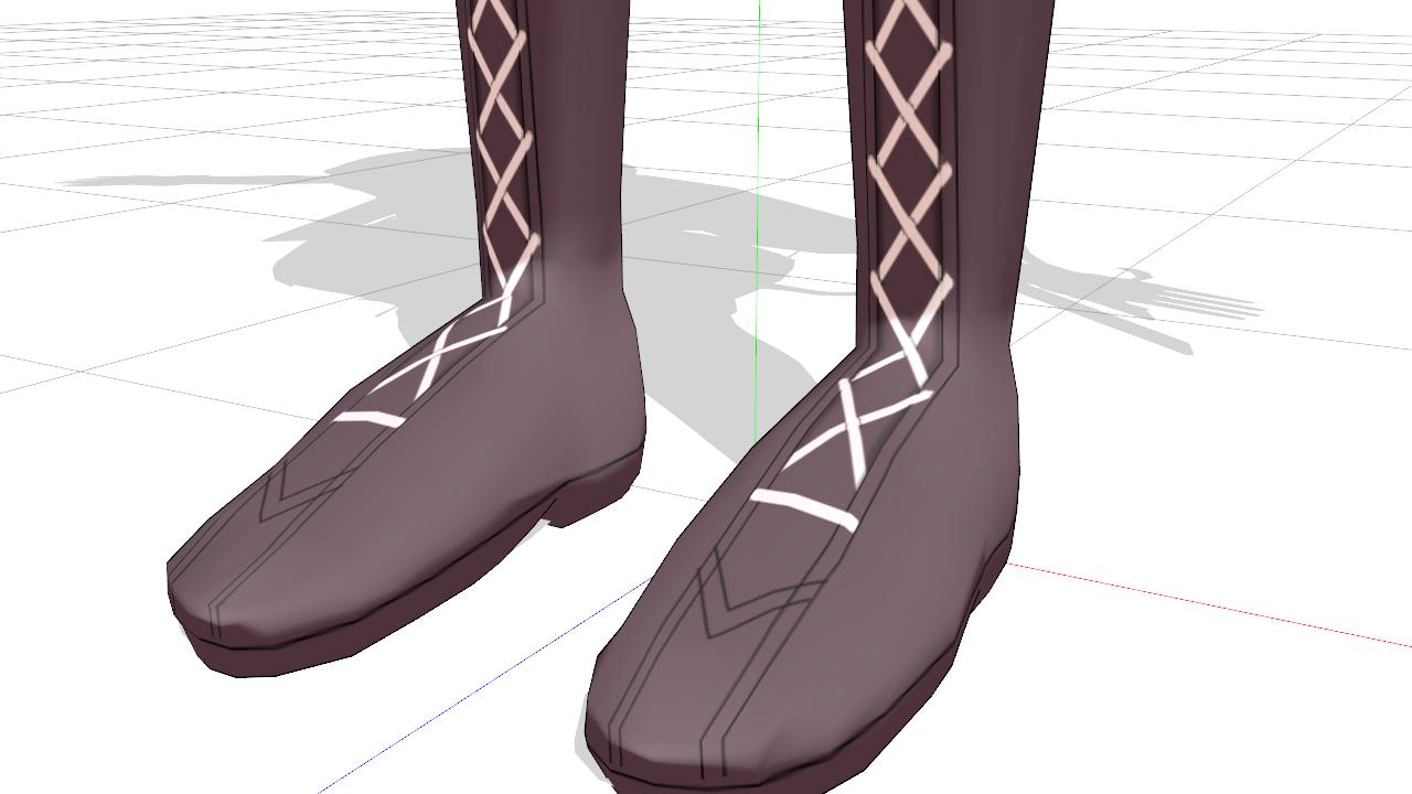 2017/01/22 MMD環いろはモデル製作中 ブーツの足元