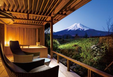 富士山を望む宿