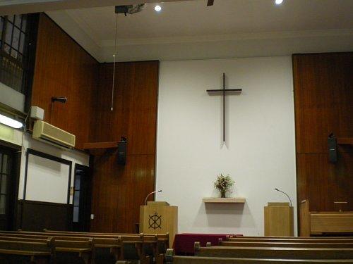 大津教会・礼拝室