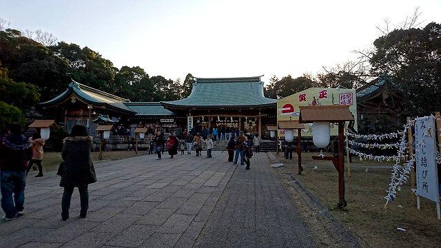 県護国神社へ初詣