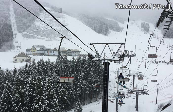 神立高原スキー場(戸沢ペアリフトから)