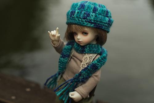 ROSEN LIED、Tuesday's child、通称・火曜子のチェルシー。森ボーイ風のお洋服で、森のような公園へ行きました。