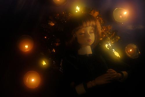PARABOX、47グレーテルの閉眼ヘッドをメイクした、眠る乙女、葉子。クリスマスの夜に。