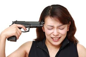 拳銃自殺のイメージ